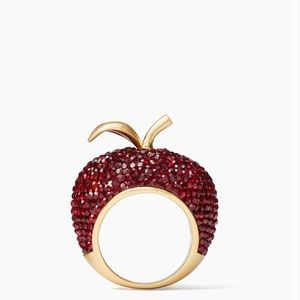 Kate Spade Dashing Beauty Apple Ring Size 7 NWT